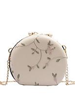 cheap -Women's Zipper / Chain PU Crossbody Bag Solid Color Black / White / Blushing Pink