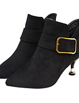 cheap -Women's Boots Low Heel Round Toe Suede Booties / Ankle Boots Fall & Winter Black / Brown