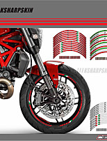 cheap -12 X Thick Edge Outer Rim Sticker Stripe Wheel Decals FIT all DUCATI MONSTER 695 696 796 1100 1100S 797 821 795