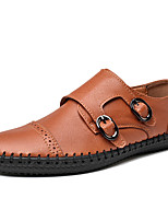 cheap -Men's Dress Shoes Cowhide Spring & Summer / Fall & Winter Casual / British Loafers & Slip-Ons Non-slipping Black / Brown / Coffee