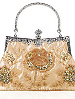 cheap -Women's Chain Polyester Evening Bag Embroidery Black / Blushing Pink / Gold