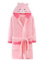 cheap -Kid's Kigurumi Pajamas Bear Onesie Pajamas Flannel Ink Blue / Pink / Fuchsia Cosplay For Boys and Girls Animal Sleepwear Cartoon Festival / Holiday Costumes / Bath Robe