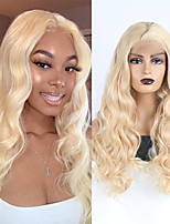 cheap -Synthetic Lace Front Wig Body Wave Side Part Lace Front Wig Long Light Blonde Synthetic Hair 18-26 inch Women's Heat Resistant Synthetic Easy dressing Blonde / Natural Hairline