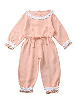 cheap -Baby Girls' Basic Solid Colored Long Sleeve Romper Blushing Pink