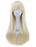 cheap -Synthetic Wig Curly Asymmetrical Wig Long Light Blonde Synthetic Hair 27 inch Women's Best Quality Blonde