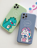 cheap -Case For Apple iPhone 11 / iPhone 11 Pro / iPhone 11 Pro Max Shockproof / Ultra-thin Back Cover Solid Colored / Animal / Cartoon TPU