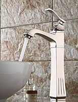 cheap -Bathroom Sink Faucet - Standard Nickel Brushed Centerset Single Handle One HoleBath Taps