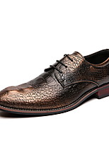 cheap -Men's Comfort Shoes PU Fall & Winter Oxfords Black / Gold / Red