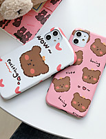 cheap -Case for Apple scene map iPhone 11 11 Pro 11 Pro Max X XS XR XS Max 8 cartoon Bear pattern bright TPU material IMD process all-inclusive mobile phone case CKF