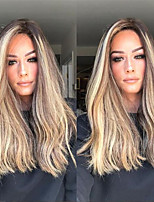 cheap -Synthetic Wig Curly Asymmetrical Wig Long Ombre Blonde Synthetic Hair 27 inch Women's Best Quality Blonde Ombre