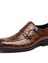 cheap -Men's Formal Shoes Synthetics Spring & Summer / Fall & Winter Casual / British Loafers & Slip-Ons Non-slipping Black / Brown / Coffee
