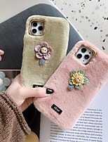 cheap -Case For Apple iPhone 11 / iPhone 11 Pro / iPhone 11 Pro Max Shockproof Back Cover Solid Colored / Flower / Plush TPU