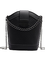 cheap -Women's Chain Polyester / PU Top Handle Bag Solid Color Black / Blue / Red