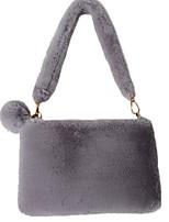 cheap -Women's Velvet Top Handle Bag Solid Color Black / Light Gray / Gray