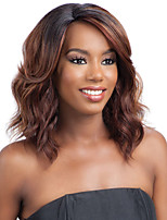 cheap -Synthetic Wig Curly Asymmetrical Wig Long Black / Brown Synthetic Hair 27 inch Women's Best Quality Light Brown
