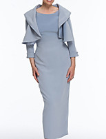 cheap -3/4 Length Sleeve Satin Wedding Women's Wrap With Ruching Shrugs