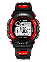cheap -SYNOKE Kids Digital Watch Digital Sporty Stylish Silicone 30 m Water Resistant / Waterproof Calendar / date / day LCD Digital Outdoor Fashion - Orange Yellow Red