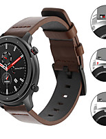 cheap -Luxury Leather Watch Band For Huami Amazfit GTR 47mm / Amazfit Stratos 3 / GTR 42mm / GTS / Bip Lite / Pace Watch / Stratos 2 2S Replaceable Bracelet Wrist Strap Wristband