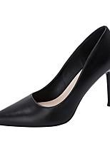 cheap -Women's Heels Stiletto Heel Pointed Toe PU Winter Black