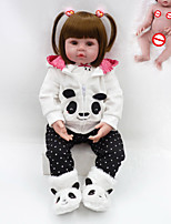 cheap -NPKCOLLECTION 20 inch Reborn Doll Baby Boy Baby Girl lifelike Gift Hand Made Full Body Silicone Silica Gel with Clothes and Accessories for Girls' Birthday and Festival Gifts
