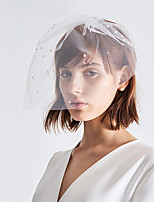 cheap -One-tier Antique / Sweet Wedding Veil Blusher Veils with Faux Pearl Tulle / Classic