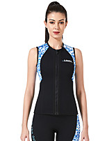 cheap -Dive&Sail Women's Sleeveless Wetsuit 3mm CR Neoprene Diving Suit Top Anatomic Design Sleeveless Back Zip Patchwork Autumn / Fall Spring Winter / High Elasticity