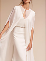 cheap -Short Sleeve Chiffon Wedding Women's Wrap With Ruching Coats / Jackets