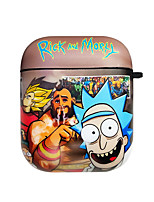 cheap -Case For AirPods Cute / Shockproof / Dustproof / Rick and Morty Headphone Case Hard