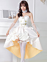 cheap -Sweet Lolita Princess Lolita Dress Female Japanese Cosplay Costumes White Solid Color Sleeveless