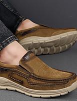 cheap -Men's Comfort Shoes PU Fall & Winter Loafers & Slip-Ons Brown / Dark Brown / Khaki