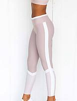 cheap -Women's High Waist Yoga Pants Winter Color Block Light Purple Running Fitness Gym Workout Tights Leggings Sport Activewear Moisture Wicking Butt Lift Tummy Control Power Flex High Elasticity Skinny