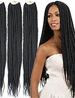 cheap -Straight Costume Accessories Crafts Crochet Hair Braids Natural Synthetic Hair 100% kanekalon hair Braids Braiding Hair 6 pack