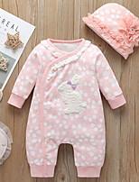 cheap -Baby Girls' Basic Polka Dot Long Sleeve Overall & Jumpsuit Blushing Pink