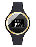 cheap -Men's Sport Watch Digital Silicone Black / White / Rose Calendar / date / day Chronograph New Design Digital Outdoor New Arrival - Black Gold / White White One Year Battery Life