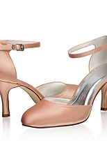 cheap -Women's Wedding Shoes Stiletto Heel Closed Toe Satin Sweet Spring & Summer / Fall & Winter Champagne