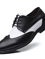 cheap -Men's Formal Shoes Synthetics Spring / Fall Casual / British Oxfords Non-slipping Black / Wine
