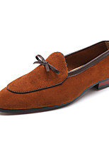 cheap -Men's Leather Shoes Leather / Suede Spring & Summer / Fall & Winter Business / Casual Loafers & Slip-Ons Breathable Black / Brown / Yellow
