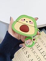cheap -Case For AirPods Pro Cute / Shockproof / Dustproof / Cartoon Avocado Headphone Case Soft