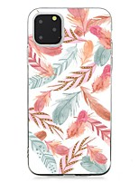 cheap -Case For Apple iPhone 11 / iPhone 11 Pro / iPhone 11 Pro Max Ultra-thin Back Cover Feathers TPU For iPhone XS Max/XS/XR/X/7/8 Plus/6s Plus/5/5s/SE