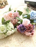 cheap -Artificial Flower Rose Dahlia Bouquet Wedding Home Decoration 1 Pack
