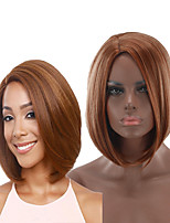 cheap -Synthetic Wig kinky Straight Asymmetrical Wig Short Brown Synthetic Hair 6 inch Women's Best Quality Blonde