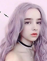 cheap -Synthetic Wig Body Wave Deep Parting Wig Long Lavender Synthetic Hair 27 inch Women's Best Quality Middle Part Purple