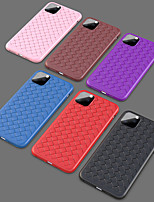 cheap -Case For Apple iPhone 11 / iPhone 11 Pro / iPhone 11 Pro Max Shockproof Back Cover Solid Colored Textile / TPU