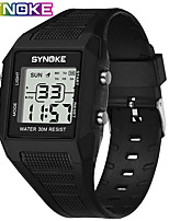 cheap -SYNOKE Digital Watch Digital Sporty Stylish Silicone 30 m Water Resistant / Waterproof Calendar / date / day LCD Digital Outdoor Fashion - Black Black / Blue black / gold
