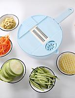 cheap -Magic Multifunctional Rotate Vegetable Cutter With Drain Basket Kitchen Veggie Fruit Shredder Grater Slicer