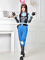cheap -Bunny Girl Pants Cosplay Costume Adults' Women's Cosplay Halloween Halloween Festival / Holiday Cotton Blue Women's Carnival Costumes / Vest / Blouse / Sleeves / Gloves / Belt