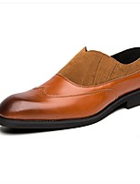 cheap -Men's Comfort Shoes PU Fall & Winter Loafers & Slip-Ons Black / Brown / Gray
