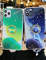 cheap -Case For Apple iPhone 11 / iPhone 11 Pro / iPhone 11 Pro Max Shockproof / Ring Holder / Ultra-thin Back Cover Color Gradient / Glitter Shine TPU
