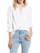 cheap -Women's Daily Blouse - Solid Colored Wine