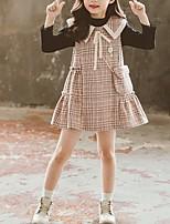 cheap -Kids Girls' Basic Striped Long Sleeve Clothing Set Blushing Pink